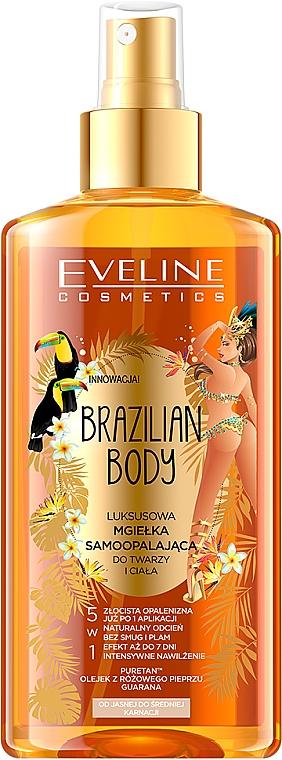 Ulei cu efect de bronz pentru corp - Eveline Cosmetics Brazilian Mist Face & Body
