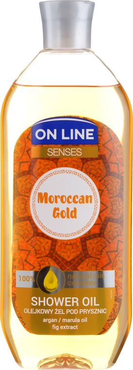 Ulei de duș - On Line Senses Shower Oil Moroccan Gold