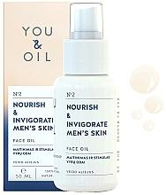"""Parfumuri și produse cosmetice Ulei facial """"Nutriție și vigoare"""" - You & Oil Nourish & Invigorate Men's Skin Face Oil"""
