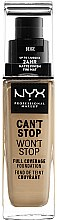 Parfumuri și produse cosmetice Fod de ten - NYX Professional Makeup Can't Stop Won't Stop Full Coverage Foundation