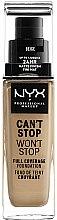 Parfumuri și produse cosmetice Bază pentru machiaj - NYX Professional Makeup Can't Stop Won't Stop Full Coverage Foundation