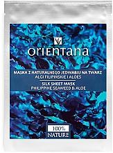 Parfumuri și produse cosmetice Mască de față - Orientana Silk Cloth Face Mask Philippine Seaweed & Aloe