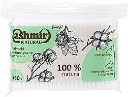 Parfumuri și produse cosmetice Bețișoare din bumbac, 160 buc - Cashmir Natural Cotton Buds