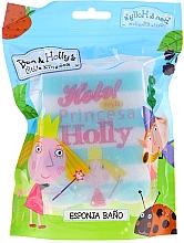 """Parfumuri și produse cosmetice Burete de baie """"Peppa Pig"""", Printesa Holly, albastră - Suavipiel Bath Sponge"""