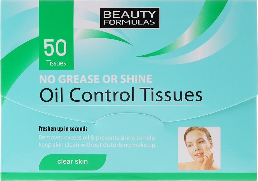 Șervetele matifiante pentru față - Beauty Formulas Oil Control Tissues
