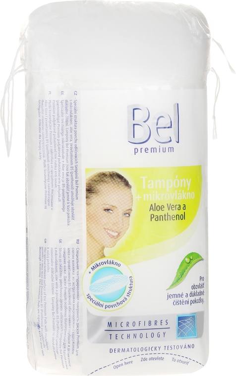 Discuri din bumbac - Bel Premium Oval Pads with Aloe Vera — Imagine N1