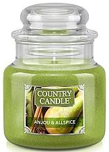 Parfumuri și produse cosmetice Lumânare aromată în suport de steclă - Country Candle Anjou & Allspice