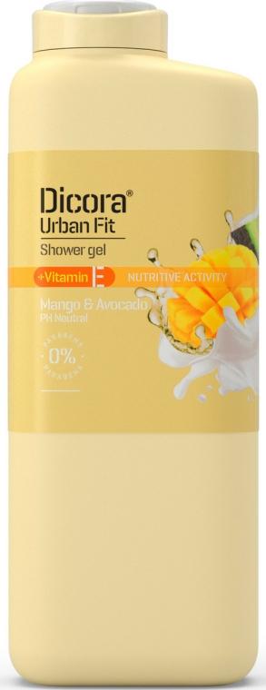 """Gel de duș cu vitamina E """"Mango și Avocado"""" - Dicora Urban Fit Shower Gel Vitamin E Mango & Avocado — Imagine N1"""