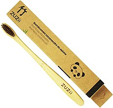 Parfumuri și produse cosmetice Periuță din bambus pentru dinți, maro, moale - Zuzii Soft Toothbrush