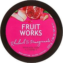 """Parfumuri și produse cosmetice Unt de corp """"Rubarbă și rodie"""" - Grace Cole Fruit Works Body Butter Rhubarb & Pomegranate"""