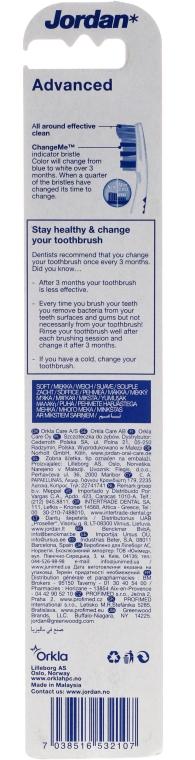 Periuță de dinți Advanced, roz+albastră - Jordan Advanced Soft Toothbrush — Imagine N2