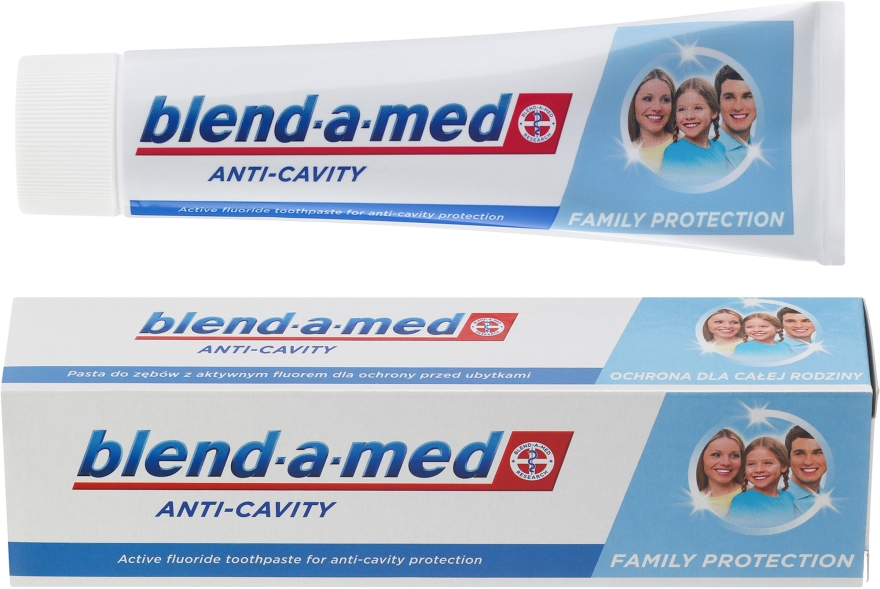 """Pastă de dinți pentru toată familia """"Anti-carii"""" - Blend-a-med Anti-Cavity Family Protect Toothpaste — Imagine N1"""