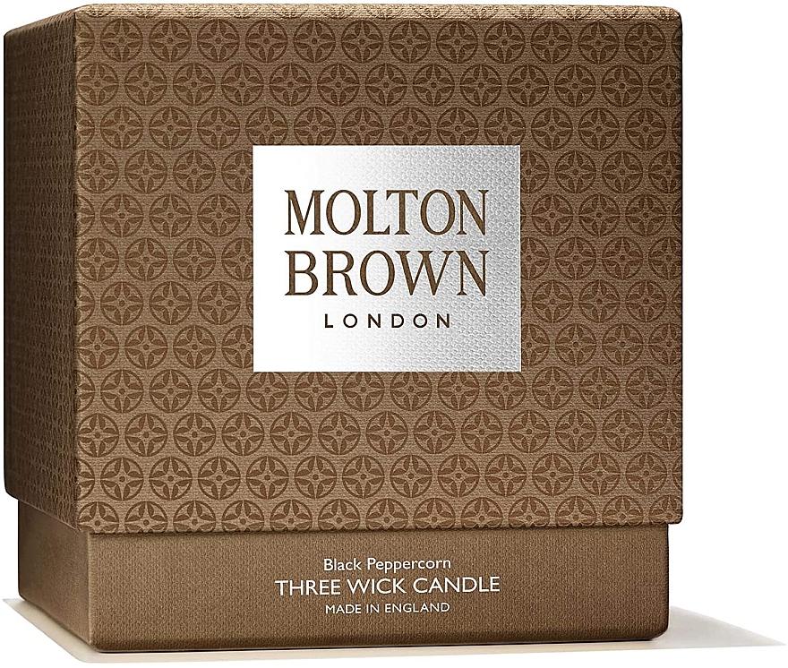 Molton Brown Black Peppercorn Three Wick Candle - Lumânare aromată, 3 fitile — Imagine N3