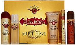 Parfumuri și produse cosmetice Cuba Royal Must Have - Set (edt/100ml + ash 100ml + sh/gel/200ml + deo/200ml + edt/35ml)