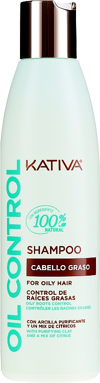 Șampon pentru păr gras - Kativa Oil Control Shampoo — Imagine N1