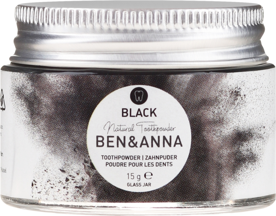 Praf de dinți - Ben & Anna Activated Charcoal Toothpowder Black — Imagine N2