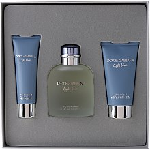 Dolce & Gabbana Light Blue Pour Homme - Set (edt 125 + sh/g 50 + a/sh balm 75) — Imagine N1