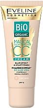 Parfumuri și produse cosmetice CC cream tonal - Eveline Cosmetics Bio Organic Magical CC Cream SPF 15
