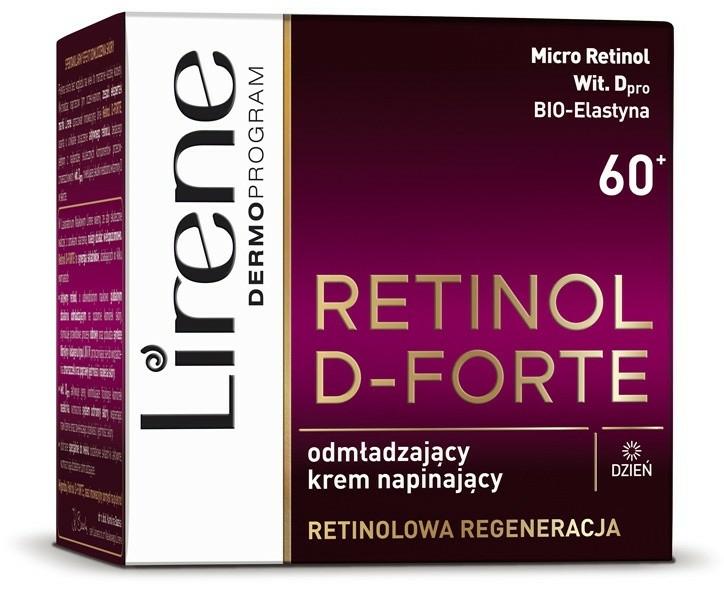 Cremă de zi pentru întinerirea tenului - Lirene Retinol D-Forte Rejuvenating Day Cream For Skin Tightening 60+ — Imagine N2