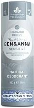"Parfumuri și produse cosmetice Deodorant ""Highland Breeze"" (carton) - Ben&Anna Natural Deodorant Sensitive Highland Breeze"