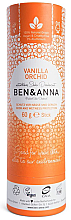 "Parfumuri și produse cosmetice Deodorant ""Vanilie și orhidee"" (tub de carton) - Ben & Anna Natural Soda Deodorant Paper Tube Vanilla Orchid"