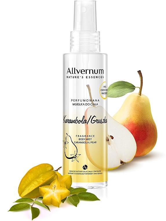 """Spray parfumat pentru corp """"Pară și carom"""" - Allvernum Allverne Nature's Essences Body Mist"""
