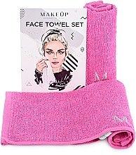 """Parfumuri și produse cosmetice Set de prosoape de față, pentru călătorii, roz """"MakeTravel"""" - Makeup Face Towel Set"""
