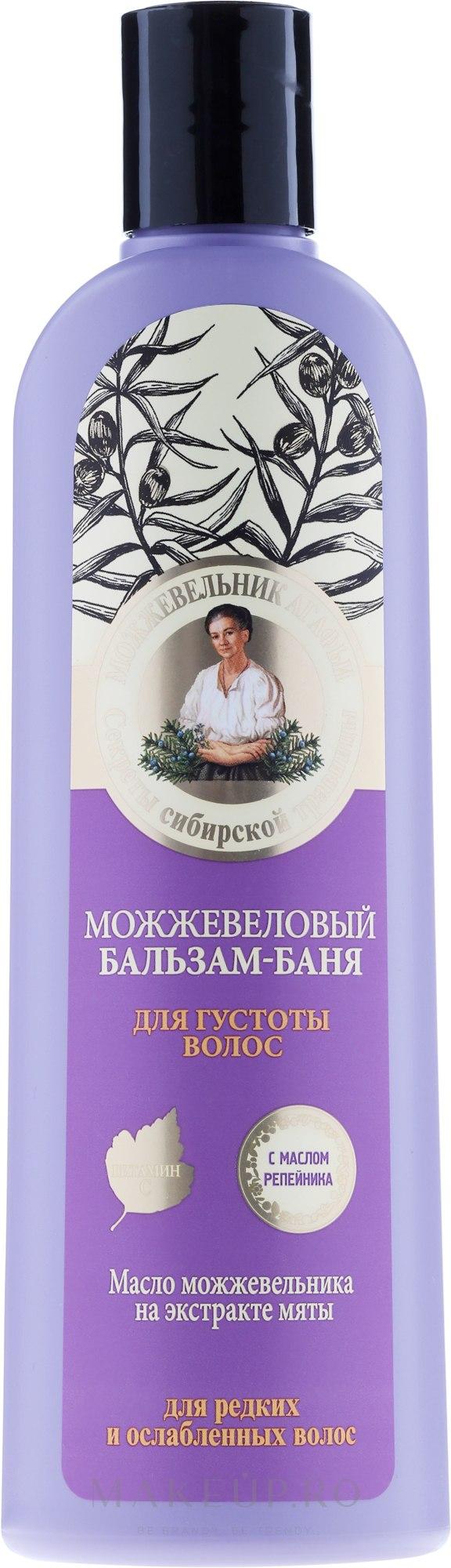 Balsam cu extract de ienupăr împotriva căderii părului - Reţete bunicii Agafia  — Imagine 280 ml
