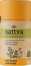 Parfumuri și produse cosmetice Vopsea de păr (henna) - Sattva Ayuvrveda (Czarna)