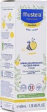 Parfumuri și produse cosmetice Cold cream pentru față - Mustela Bebe Nourishing Cream with Cold Cream