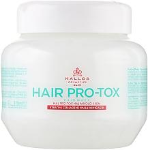 Parfumuri și produse cosmetice Masca de păr cu keratina, colagen și acid hialuronic - Kallos Cosmetics Pro-Tox Hair Mask