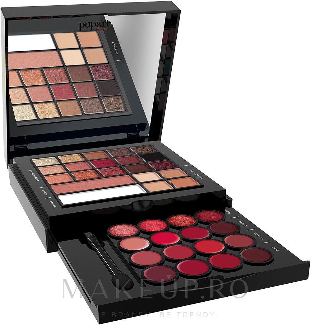 Paletă de machiaj - Pupa Pupart M Palette — Imagine 001 - Back To Red