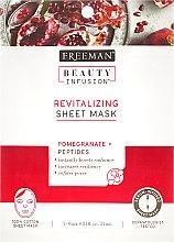 Parfumuri și produse cosmetice Mască de țesut regenerantă pentru față - Freeman Beauty Infusion Revitalizing Peel-Off Mask Pomegranate + Peptides