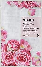 Parfumuri și produse cosmetice Mască de țesut cu extract de trandafir - Mizon Joyful Time Essence Mask Rose