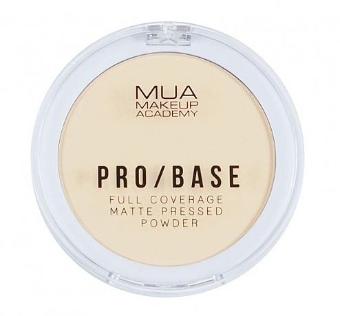 Pudră compactă matifiantă pentru față - MUA Pro-Base Full Coverage Matte Pressed Powder — Imagine N1