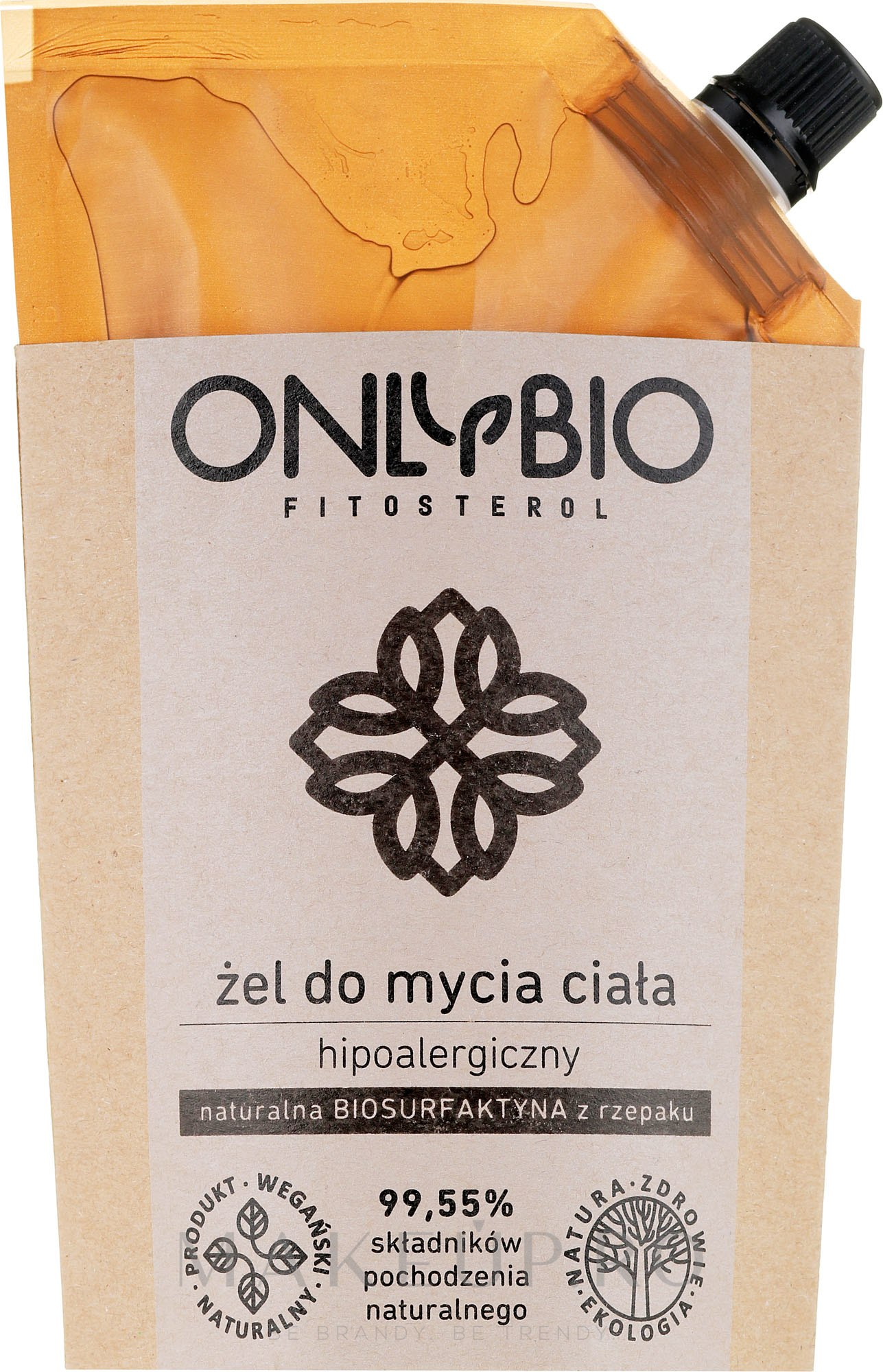 Gel de duș hipoalergenic pentru corp - Only Bio Fitosterol Shower Gel (Doypack) — Imagine 500 ml