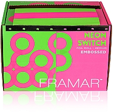"Parfumuri și produse cosmetice Folie de aluminiu ""Neon glow"", 98 m - Framar Embossed Roll Medium Neon Switch"