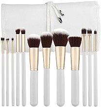 Parfumuri și produse cosmetice Set pensule pentru machiaj, alb, 12 bucăți - Tools For Beauty
