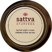 Parfumuri și produse cosmetice Cremă de noapte pe bază de plante medicinale - Sattva Ayurveda Herbal Night Cream