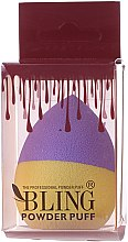 Parfumuri și produse cosmetice Burete pentru machiaj, mov cu galben - Bling Powder Puff
