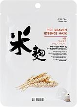 Parfumuri și produse cosmetice Mască din țesătură cu extract de tărâțe de orez pentru față - Mitomo Rice Leaven Essence Mask