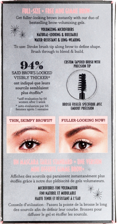 Set - Benefit Gimme More Brow! (brow/gel/3g+brow/gel/1.5g) (2 -Warm Glden Blonde) — Imagine N2