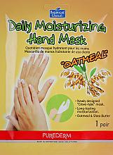 Parfumuri și produse cosmetice Mască-mănuși pentru mâini - Purederm Daily Moisturizing Hand Mask Oatmel