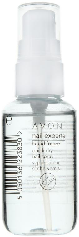 Întăritor pentru lacul de unghii - Avon Nail Experts Liquid Freeze Quick Dry Nail Spray — Imagine N1