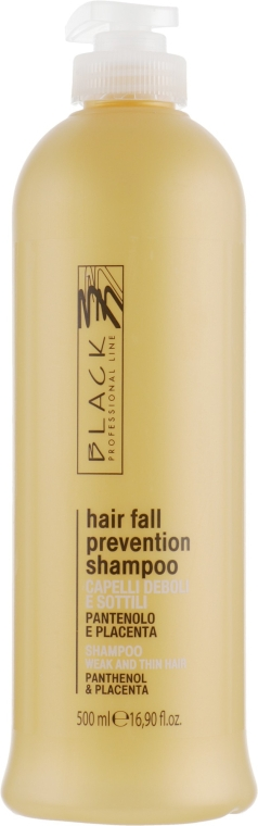 Șampon cu pantenol și placentă împotriva căderii părului - Black Professional Line Panthenol & Placenta Shampoo