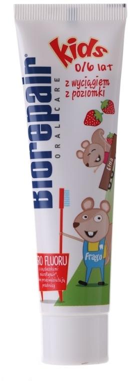 """Pastă de dinți pentru copii """"Merry Mouse"""" - BioRepair Junior Topo Gigio Cartoon"""