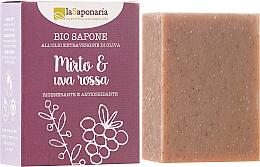 "Săpun bio ""Mirtle și Struguri roșii"" - La Saponaria Bio Sapone — Imagine N1"