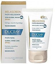 Parfumuri și produse cosmetice Cremă de mâini împortiva petelor pigmentare - Ducray Melascreen Global Hand Care SPF 50+