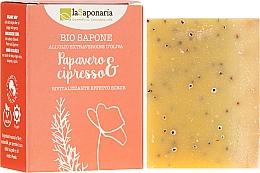 """Parfumuri și produse cosmetice Săpun bio """"Mac și Chiparos"""" - La Saponaria Bio Sapone"""