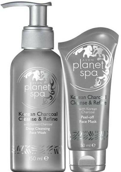 Set - Avon Planet SPA Korean Charcoal (wash/150ml + mask/50ml) — Imagine N1